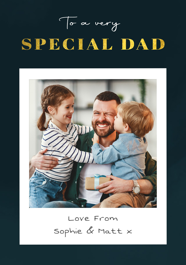 Create a Real Photo Photo Father's Day Card Special Dad Card