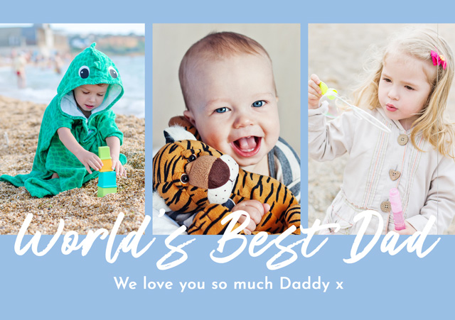 Create a Real Photo Photo Father's Day Card World's Best Dad Card