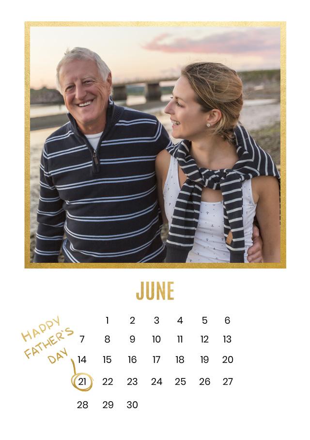 Create a Real Photo Photo Father's Day Card Calendar Card