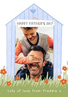 Create a Real Photo Photo Father's Day Card Garden Hut Card