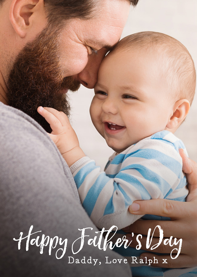 Create a Real Photo Photo Father's Day Card Script Portrait Card