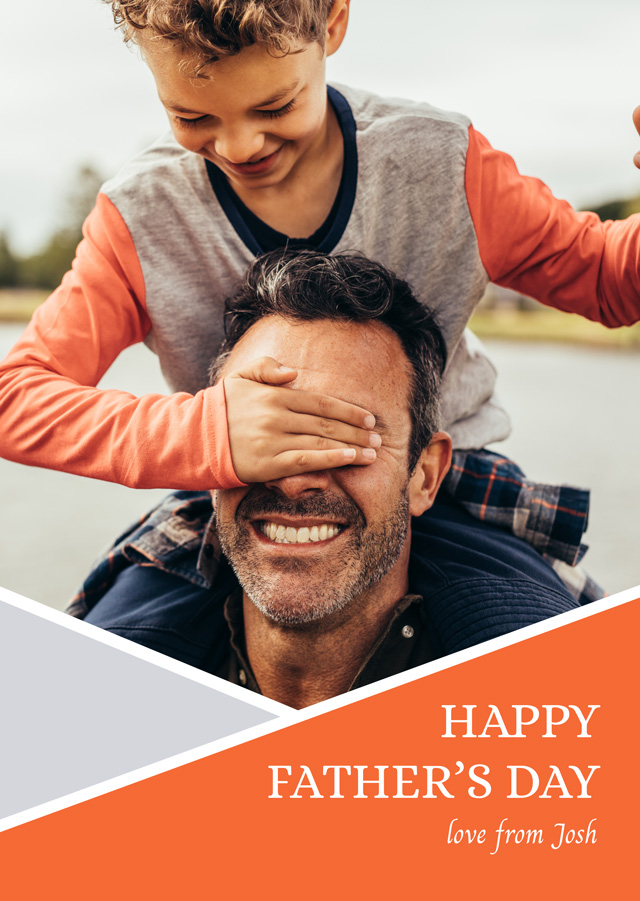 Create a Real Photo Photo Father's Day Card Geometry Card