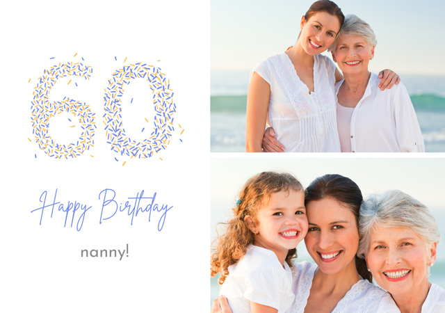 Create a Real Photo Photo Card Birthday Milestone 50 Sprinkles Collage Card
