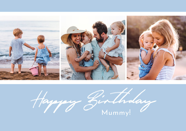 Create a Real Photo Photo Card Birthday Collage Script Card