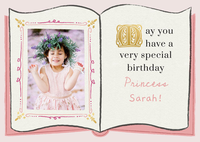 Create a Real Photo Photo Card Birthday Fairy Tale Book Card