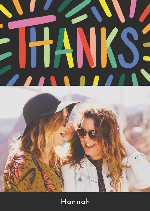 Photo Thank You Card Paint