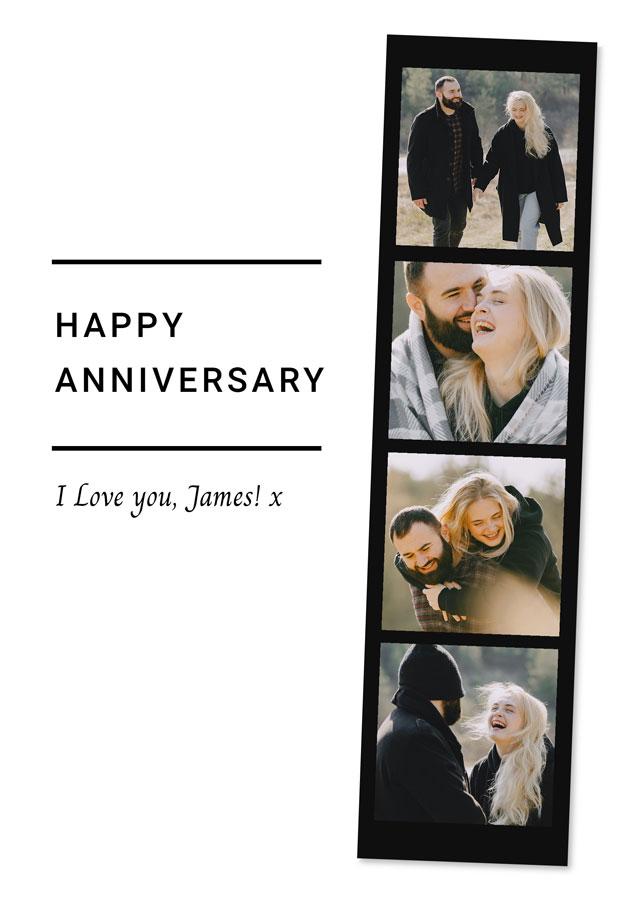 Create a Real Photo Anniversary Photo Card Strip Card