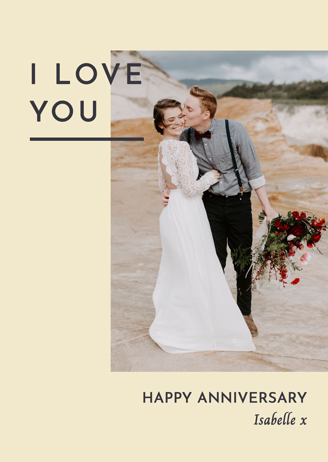 Create a Real Photo Anniversary Side Photo Card Card