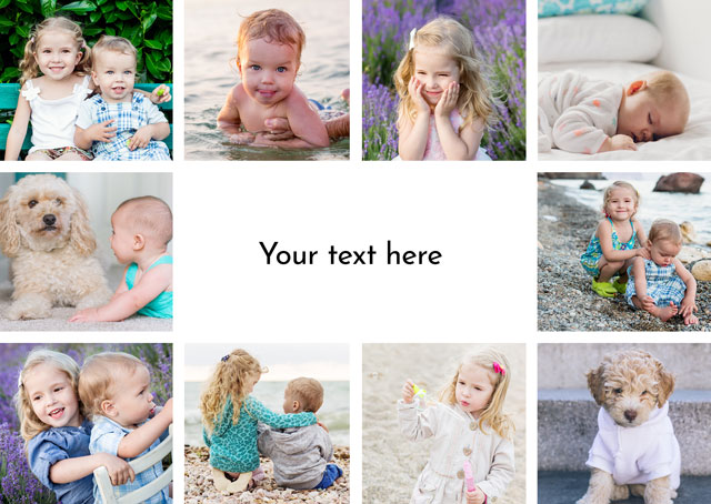 Create a Real Photo Photo Card Any Occasion 10 Photos Card