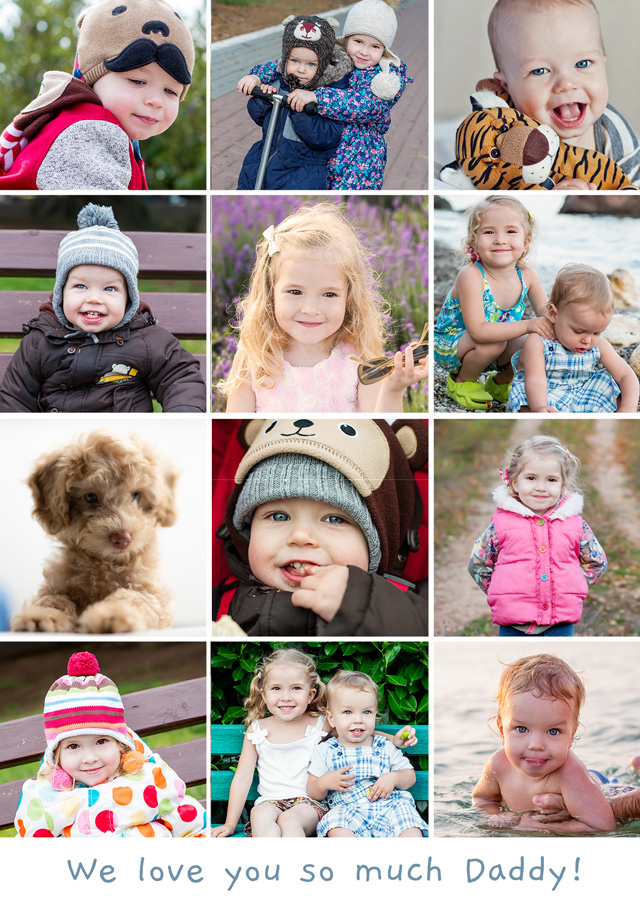 Create a Real Photo Photo Card Any Occasion 12 Photos Card
