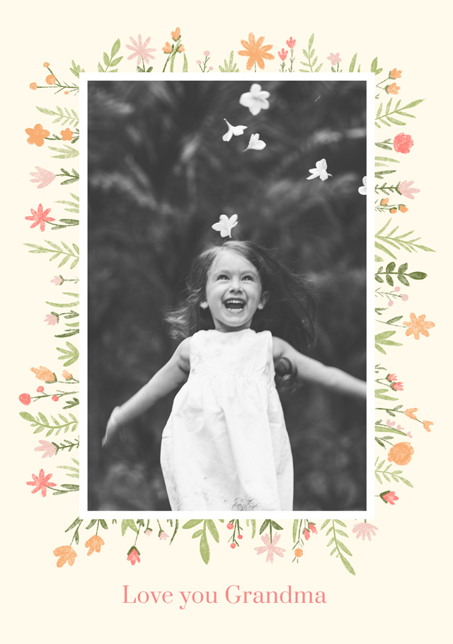 Create a Real Photo New Photo Card Grandparents Day   Design 3 Card
