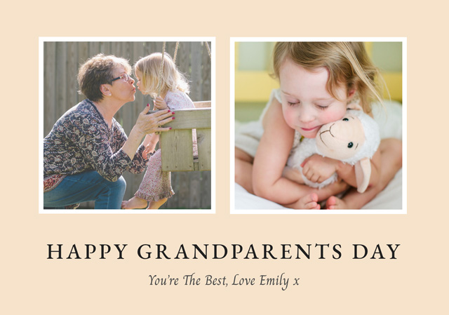 Create a Real Photo New Photo Card Grandparents Day   Design 4 Card