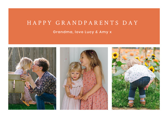 Create a Real Photo New Photo Card Grandparents Day   Design 5 Card