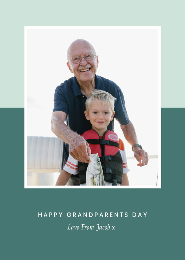 Create a Real Photo New Photo Card Grandparents Day   Design 6 Card