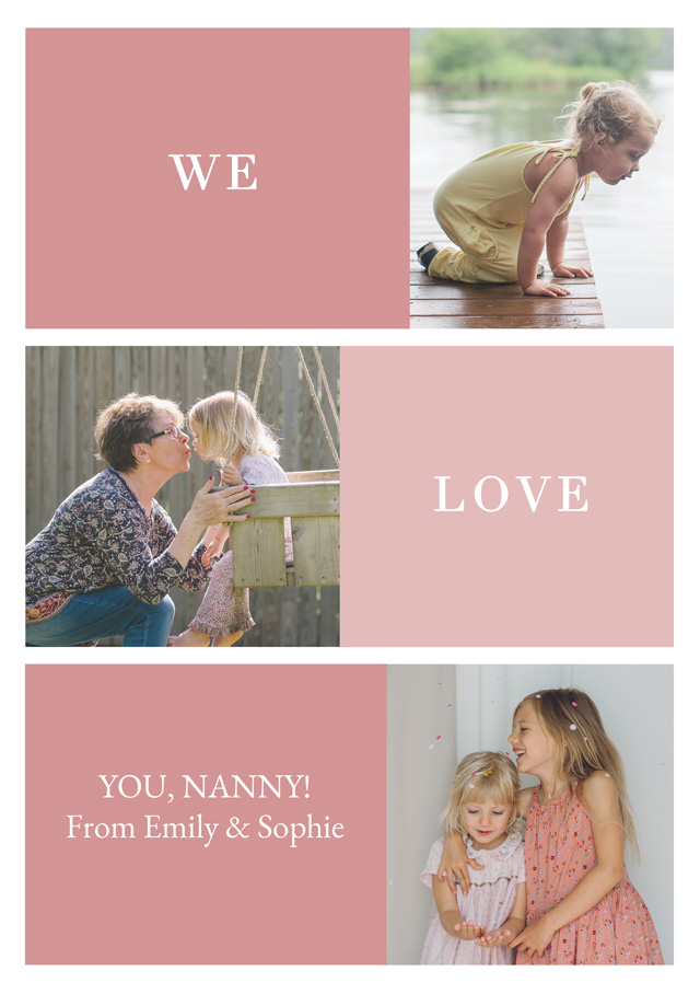 Create a Real Photo New Photo Card Grandparents Day   Design 7 Card
