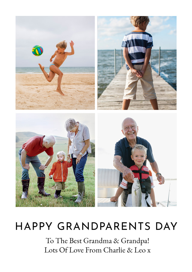 Create a Real Photo New Photo Card Grandparents Day   Design 8 Card