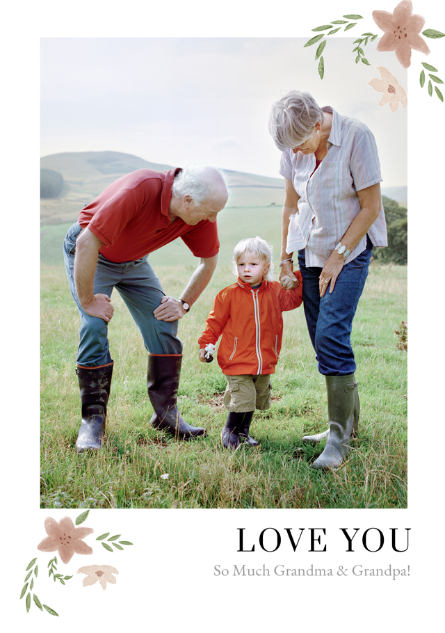 Create a Real Photo New Photo Card Grandparents Day   Design 12 Card