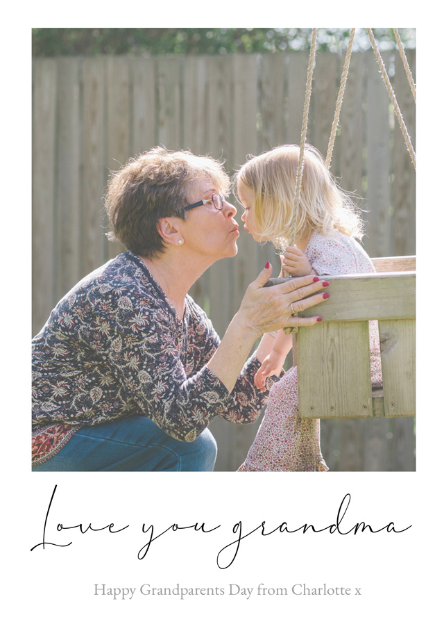 Create a Real Photo New Photo Card Grandparents Day   Design 14 Card