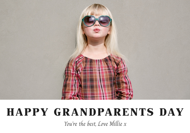 Create a Real Photo New Photo Card Grandparents Day   Design 9 Card