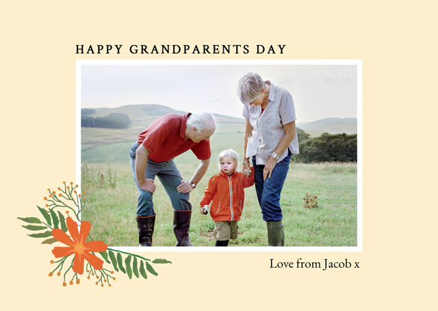 Create a Real Photo New Photo Card Grandparents Day   Design 11 Card