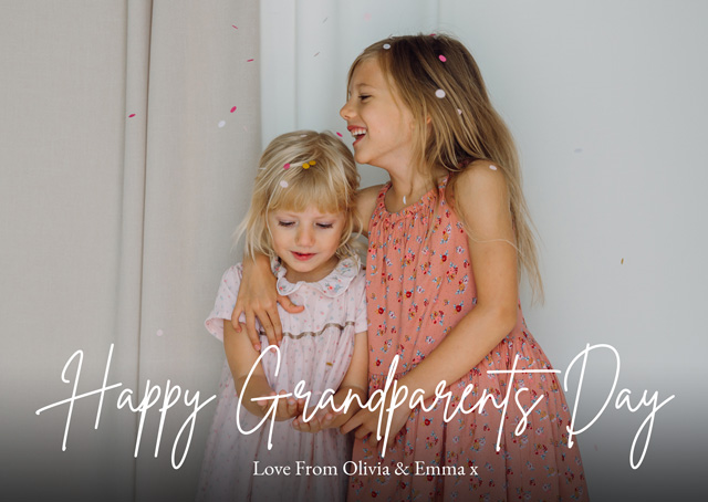 Create a Real Photo New Photo Card Grandparents Day   Design 1 Card