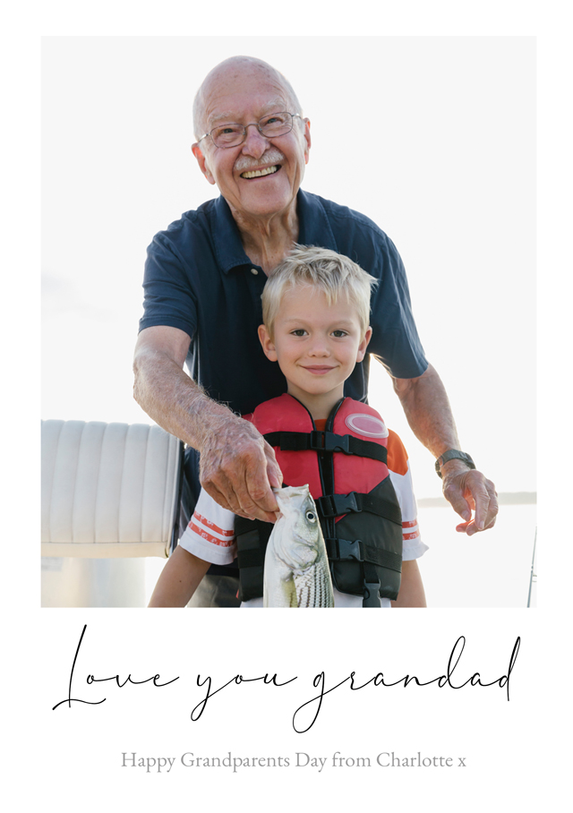 Create a Real Photo New Photo Card Grandparents Day   Design 13 Card