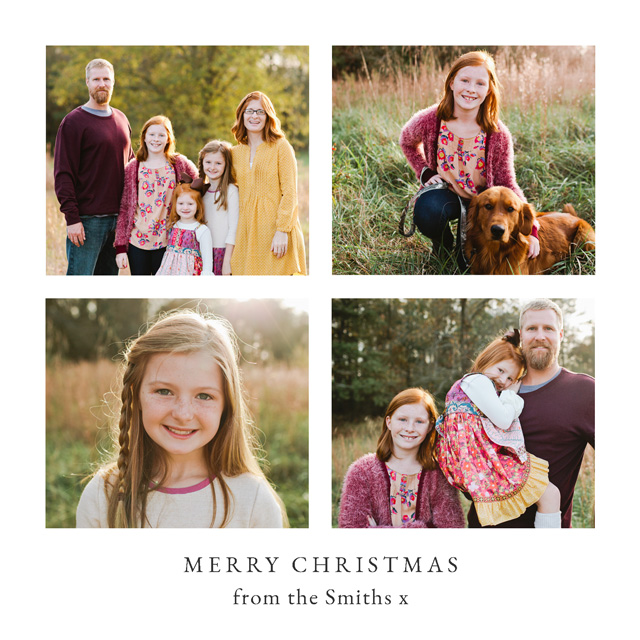 Create a Real Photo Classic Collage | Square Photo Christmas Card Card