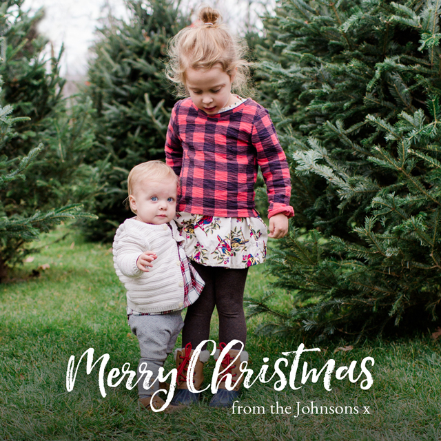 Create a Real Photo Xmas Script | Square Photo Christmas Card Card