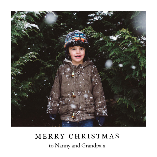 Create a Real Photo Photo Christmas Cards With Borders Card