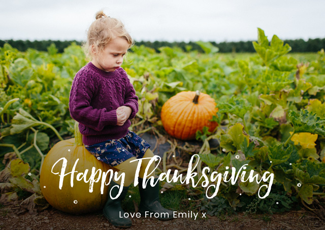 Create a Real Photo Landscape Thanksgiving Card Popular Script Card