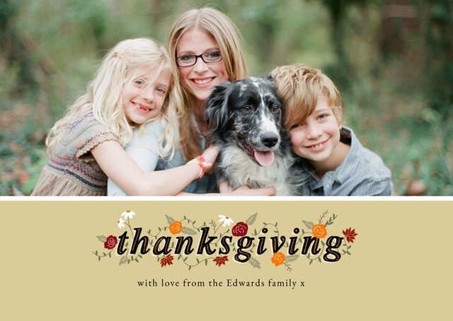 Create a personalised photo card Landscape Thanksgiving Card Thanksgiving