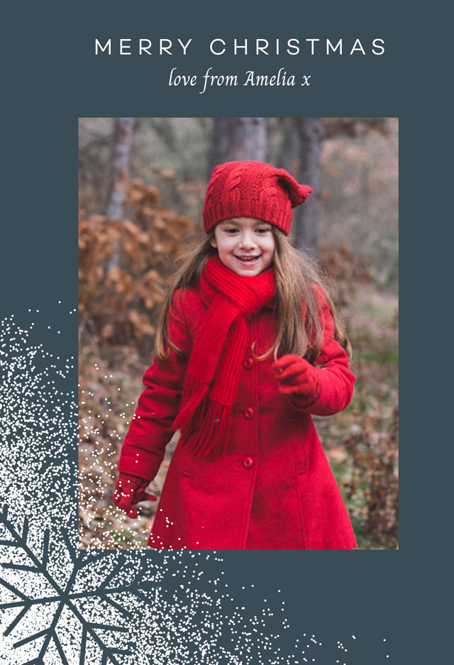 Create a Real Photo Snowflake | Portrait Photo Christmas Card Card