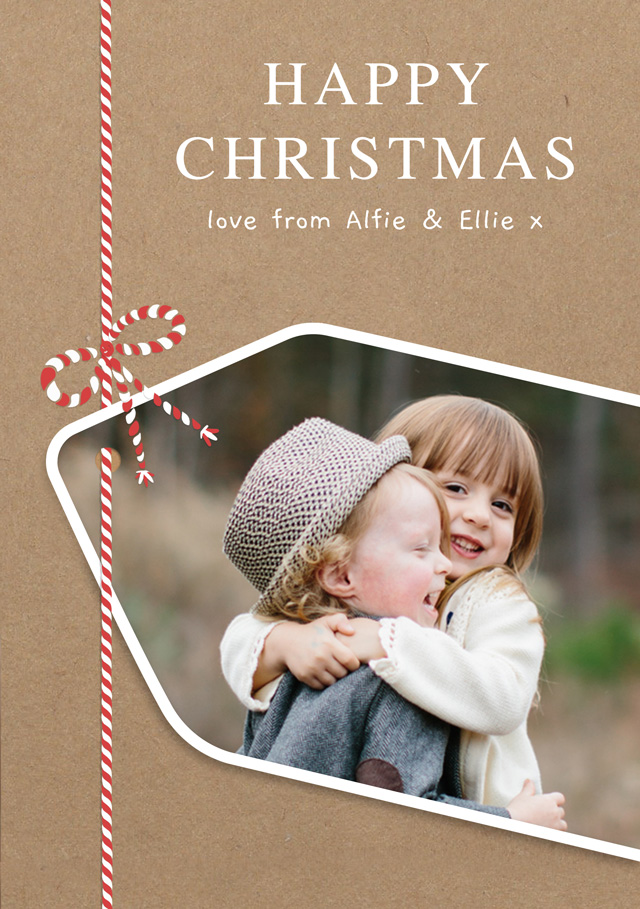 Create a Real Photo Gift Tag | Portrait Photo Christmas Card Card