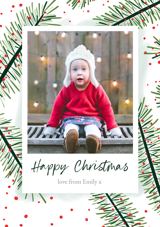 Create a Real Photo Yew | Portrait Photo Christmas Card Card
