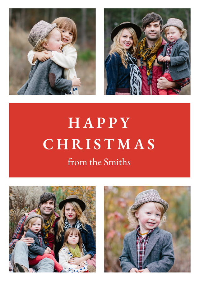 Create a Real Photo Photo Christmas Card With Multiple Pictures Card