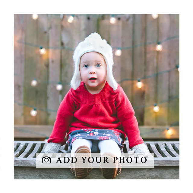 Create a personalised photo card Square Photo Card With White Border