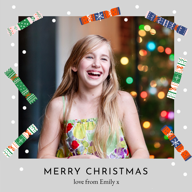 Create a Real Photo Crackers | Portrait Photo Christmas Card Card