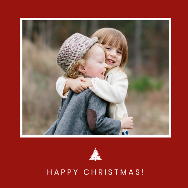 Create a Real Photo Xmas Tree | Square Photo Christmas Card Card