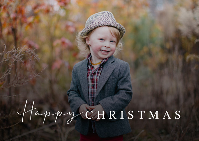 Create a Real Photo Classic Script | Landscape Photo Christmas Card Card