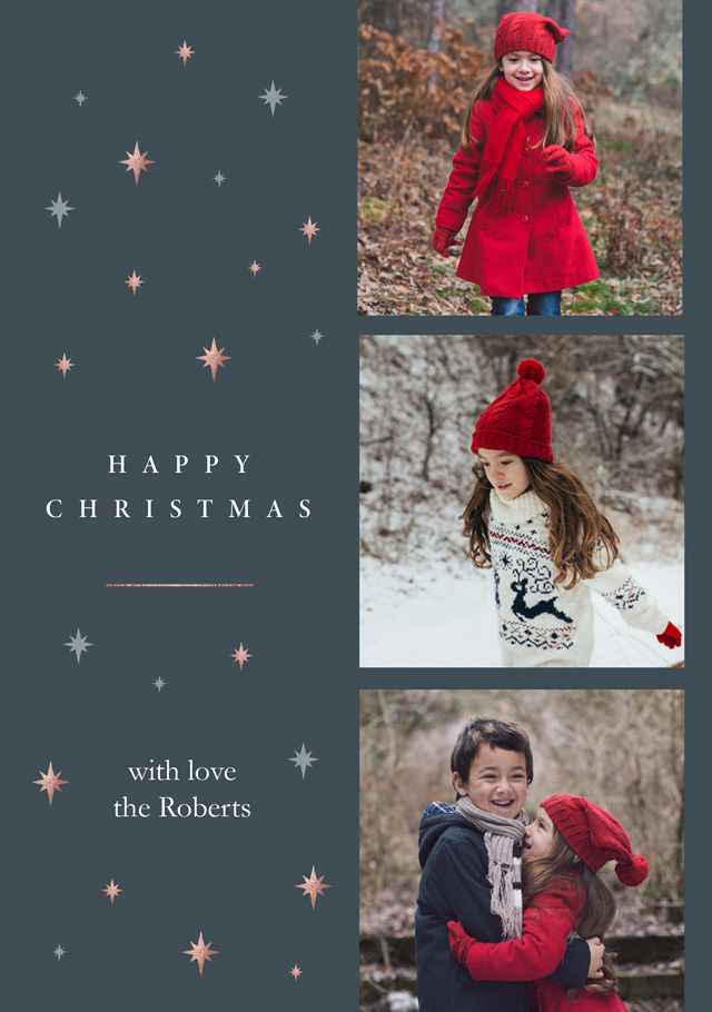 Create a Real Photo Starry Night Collage | Portrait Photo Christmas Card Card