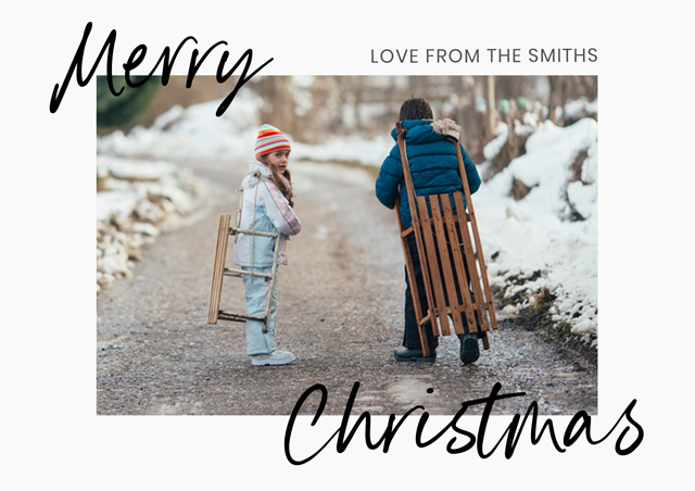 Create a Real Photo Duo Script | Landscape Photo Christmas Card Card
