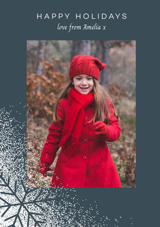 Seasonal Snowflakes Personalized Holiday Card
