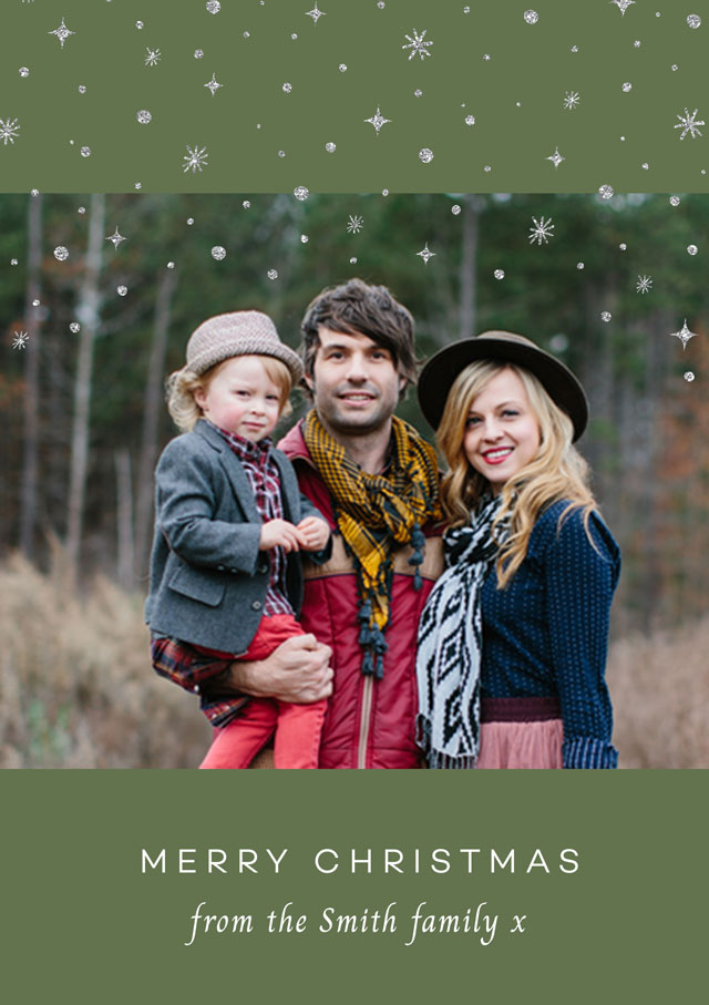 Create a Real Photo Let It Snow | Portrait Photo Christmas Card Card