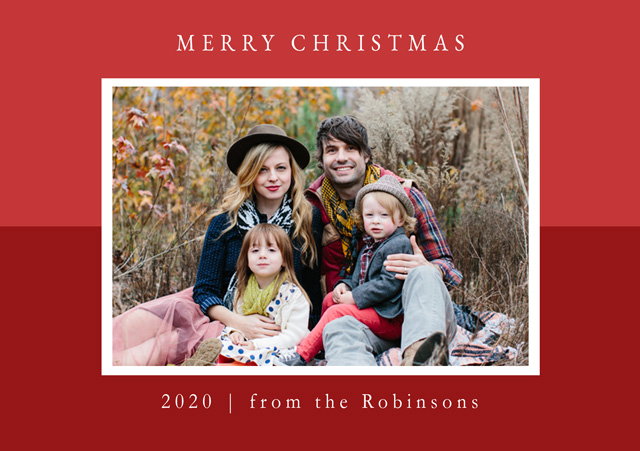 Create a Real Photo Two Tone | Landscape Photo Christmas Card Card