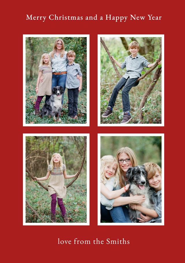 Create a Real Photo Elegant Collage | Portrait Photo Christmas Card Card
