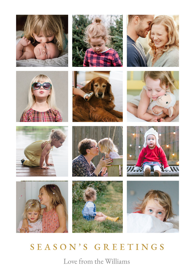 Create a Real Photo Super Collage | Portrait Photo Christmas Card Card