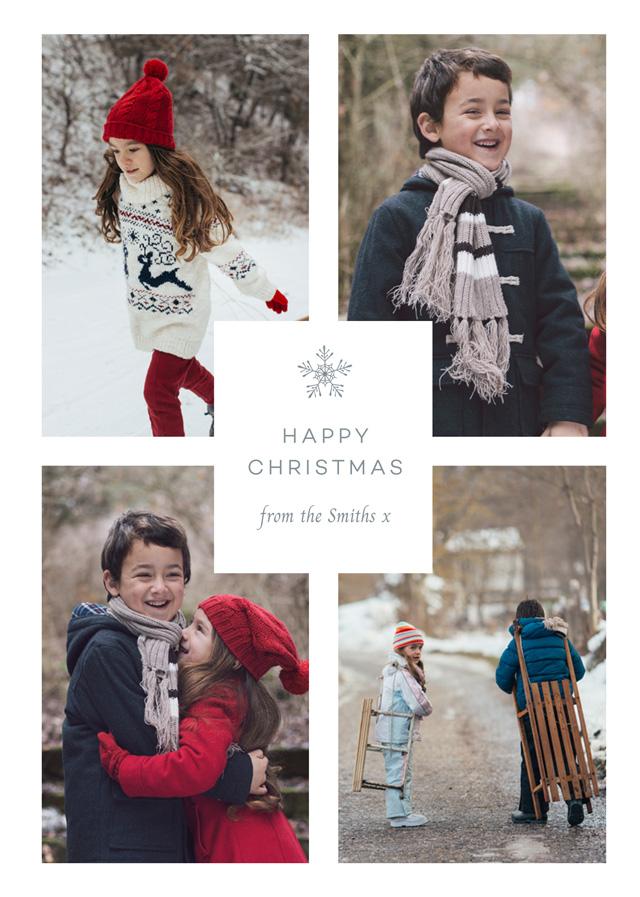 Solitary Snowflake Personalised Christmas Card