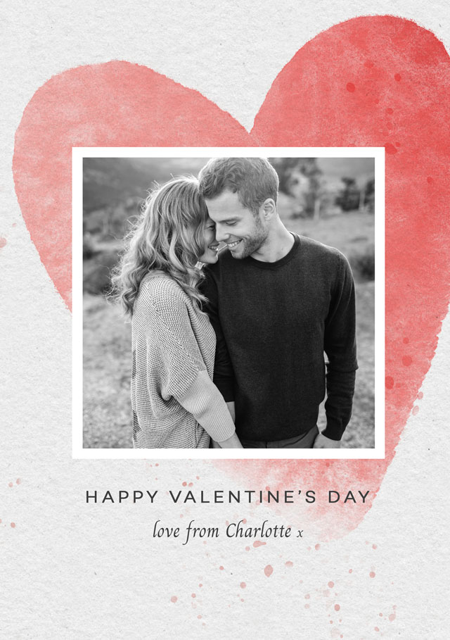 Create a Real Photo Photo Card Valentines Huge Heart Card