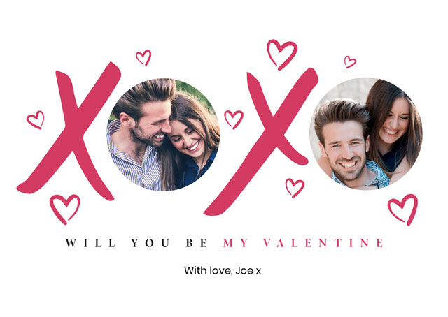 Create a Real Photo Photo Card Valentines Xx Card