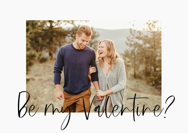Create a Real Photo Photo Card Valentines Favourite Font Card
